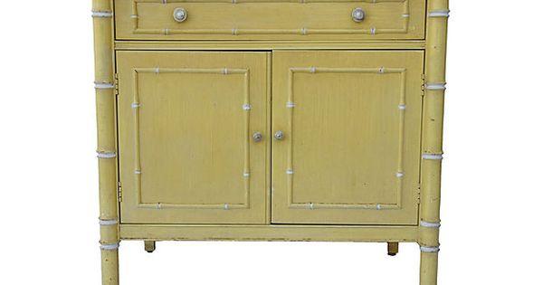 Thomasville faux bamboo cabinet on onekingslane com furniture