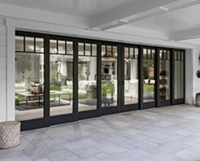 Architect Series Traditional Multi Slide Patio Door Pella French Doors Exterior Glass Doors Patio French Doors