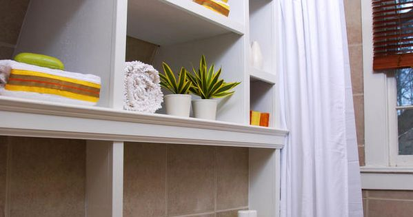 Floor-to-Ceiling Storage - 8 Bathroom Makeovers From HGTV Designers on HGTV