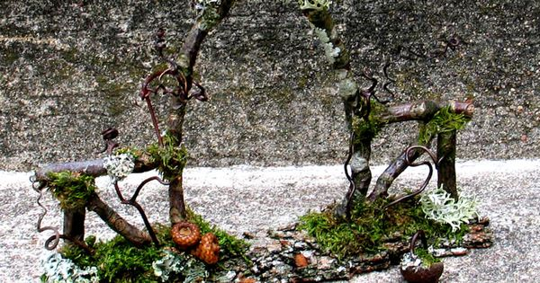 A twig portal into an enchanted world--perfect for a miniature garden or a focus for ...