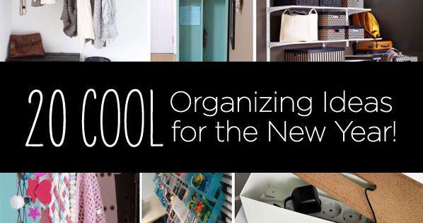 DIY 20 organizing ideas.