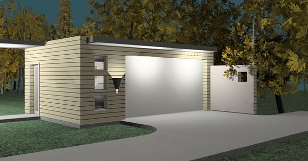 Modern prefab garage design ideas simple minimalist for Modular garage addition