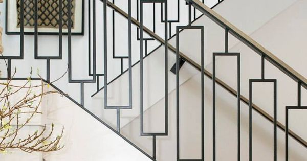 Tons of great stair rail sources. geometric staircase ...