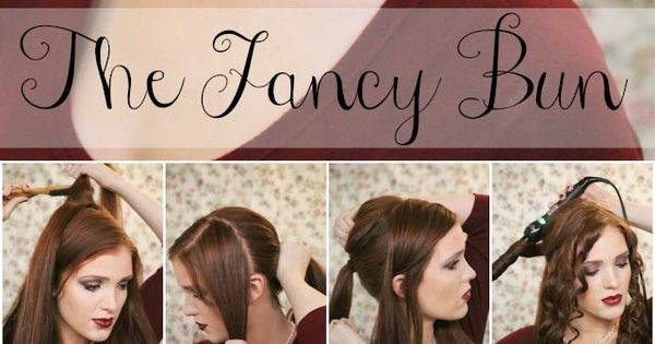 Super Easy Knotted Bun Updo and Simple Bun Hairstyle Tutorials-great wedding up-do!