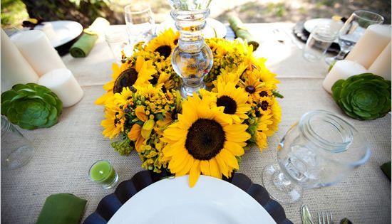 mason jar. Sunflower Wedding Inspiration sunflower wedding inspiration02 – Polka Dot Bride