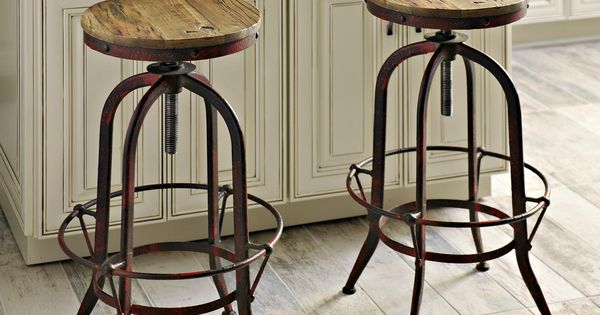 Add Kirkland S Industrial Barstools To Your Kitchen For A