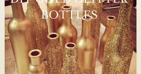 DIY Gold Glitter Bottles tutorial by Liberty Party Rental. Love! blog.libertyparty...