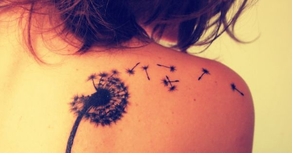 dandelion tattoo tattoos hair girl cool tattoo ink inked tattooing brunette