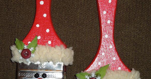 weihnachten deko aus pinsel weihnachtsmarkt. Black Bedroom Furniture Sets. Home Design Ideas