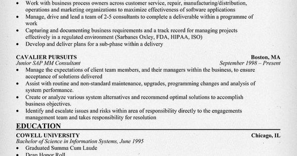 sap mm consultant resume  resumecompanion com