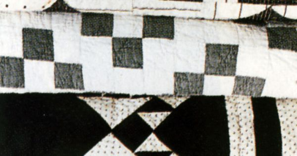 Black and white geometric quilts