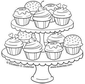 Cupcaketiers Med Jpg 300 296 Pixels Cupcake Coloring Pages Birthday Coloring Pages Coloring Pages