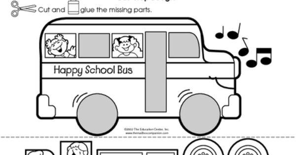 Free Printable School Bus Activity