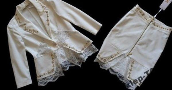Nice Komplet Ecru Marynarka Spodnica Koronka 36 6623371296 Oficjalne Archiwum Allegro White Shorts Womens Shorts Fashion