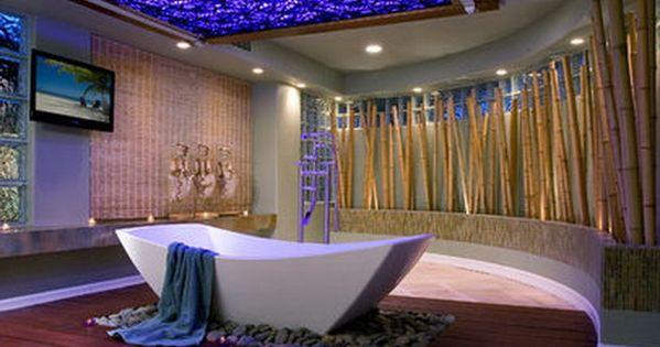 Ultra modern bathroom with blue skylight bathroom for Ultra modern home accessories