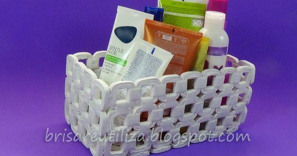 Cestas hechas con papel peri dico a reciclar ideas - Cestas de papel de periodico ...