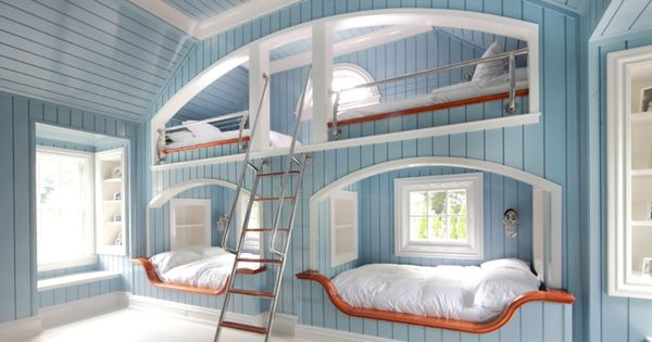 Bunkbeds! if I had a lake house or a beach house, this