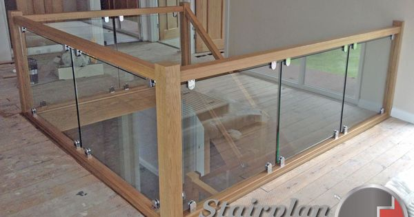 Best Vision Glass Balustrade Panels With Oak Handrail And Glass 640 x 480
