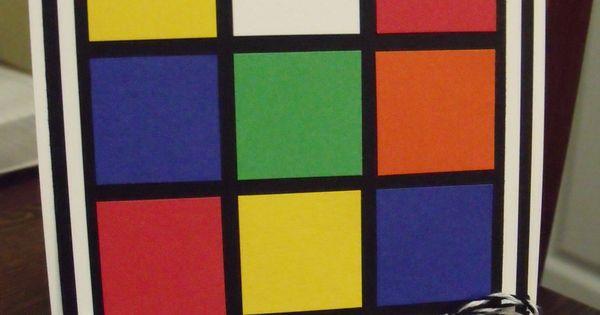 Rubik S Cube Birthday Card Cards Pinterest