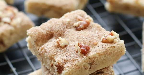Cinnamon Pecan Shortbread Bars (traditional and gluten free recipes ...