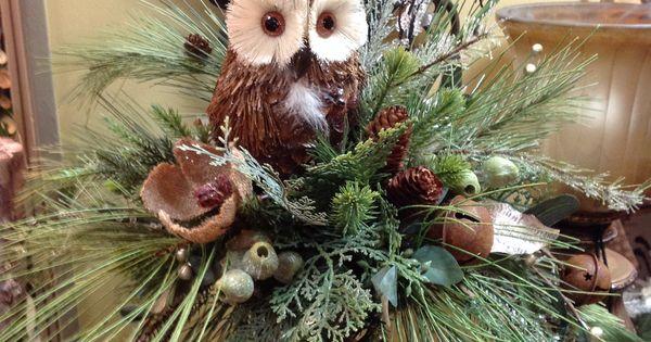 Woodsy Owl Floral Design For A Unique Winter Centerpiece