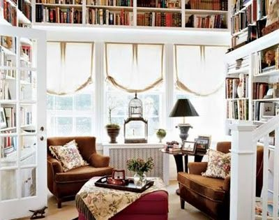 Awesome home library nook!