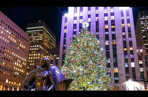 Holidays In New York City Rockefeller Center Christmas Tree O Holy Night Youtube Nueva York Navidad Rockefeller Center Arbol De Navidad
