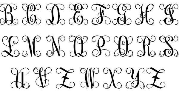 Vine Monogram Font Free Download Google Search