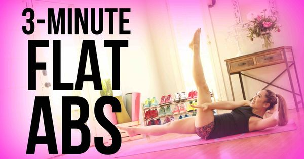 3 Minute Flat Belly Workout