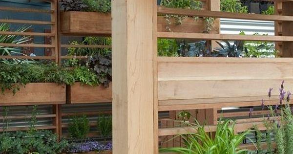 Pergola planter boxes