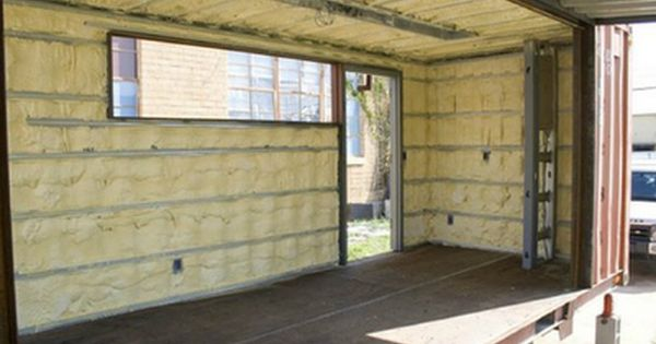 Shipping container homes spray foam interior insulation in addition to having the cargo - Insulating shipping container homes ...