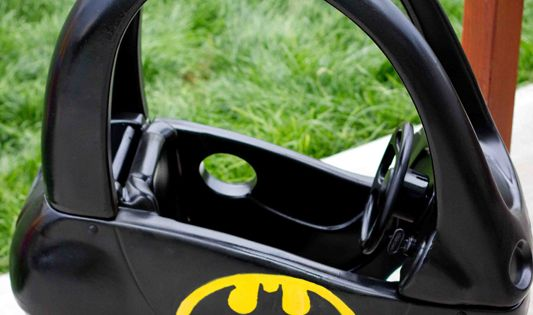 Batmobile from a cozy coupe www.sweetcsdesign...