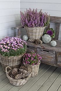 Pin By Monika Siech On Florwers Candles Country Garden Decor Garden Containers Country Style Furniture