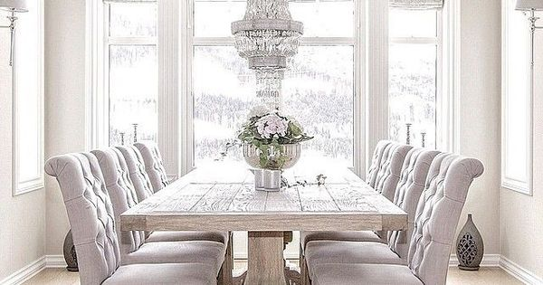 A twenty something lover of all things souther girly and for All white dining room