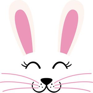 Silhouette Design Store View Design 184795 Easter Bunny Face Bunny Face Easter Bunny Decorations Easter Bunny