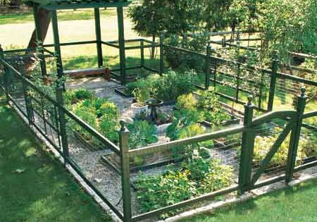 "vegetable garden idea: ""The 576-square-foot plot produces veggies all summer for a"