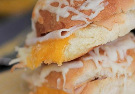 Hot Ham and Cheese Butter Dijon Skillet Sandwiches | Ham And Cheese ...