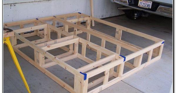 California King Platform Bed Frame Plans | DIY - Useful ...