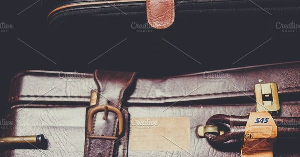Vintage Luggage   leather belt