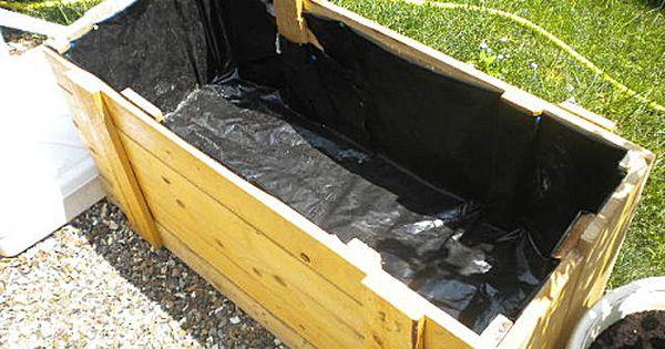 bac fleur en bois de palette jardin piscine terrasse. Black Bedroom Furniture Sets. Home Design Ideas