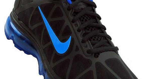 Nike Air Max 2011 Mens 684530-005 Black Royal Blue Athletic Running Shoes Sz 9.5