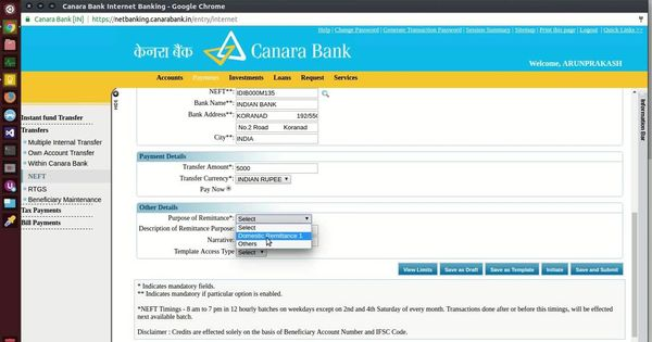 How To Transfer Money In Canara Bank Netbanking To Other Bank Accounts Bank Account Accounting Transfer