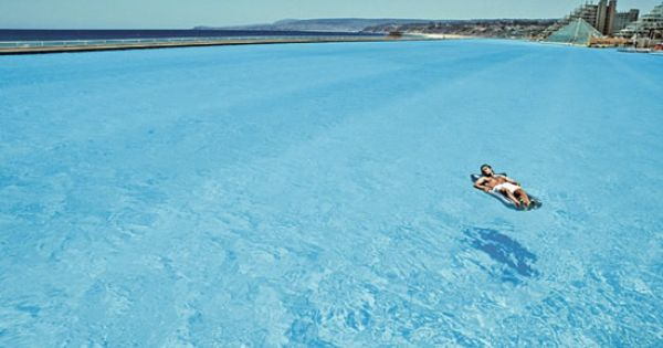 No jellyfish, sharks, or seaweed! World's largest swimming pool - in Chile