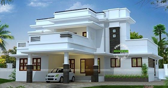 2995 Square Feet 3 Bedroom Flat Roof House In 2020 Flat Roof House Kerala House Design Double Storey House