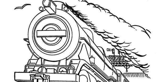 modern train coloring pages - photo#15