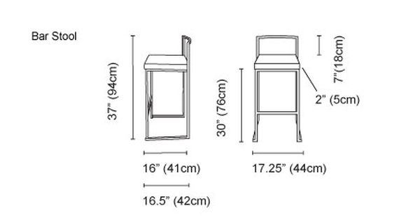 Counter Height Bar Stools Measurement