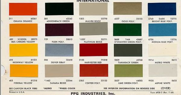 tractor color chart case ih - Google Search | IH ...