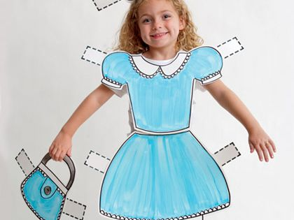 Paper doll costume idea, oh so fun! mooshka paperdoll costume halloween