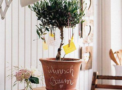 muttertag liebevolle deko ein wunschbaum f r mama zuhause dekoration und zu hause. Black Bedroom Furniture Sets. Home Design Ideas
