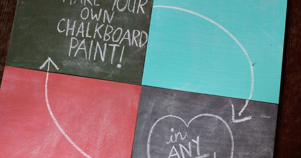 DIY Chalkboard Paint: Supplies: 1/2 cup acrylic paint in desired color, 1